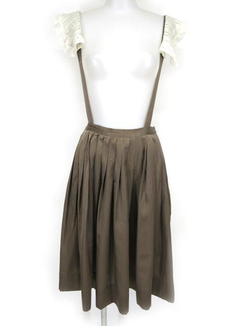 Jane Marple サスペンダー付きギャザープリーツスカート