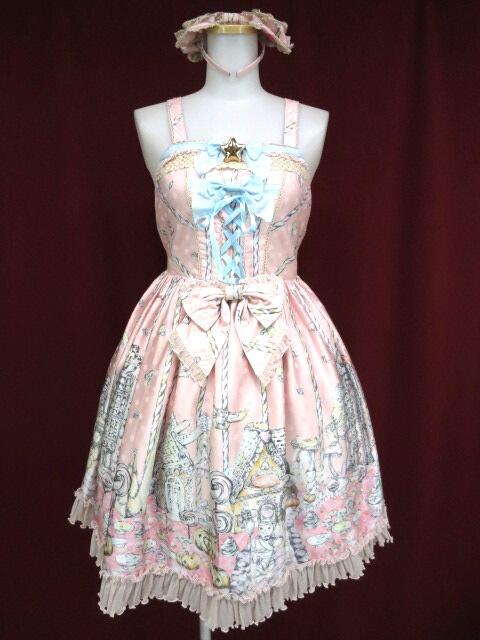 BABY, THE STARS SHINE BRIGHT Enchanted~お菓子の魔法にかけられて~柄 gelato ジャンパースカート&カチューシャ