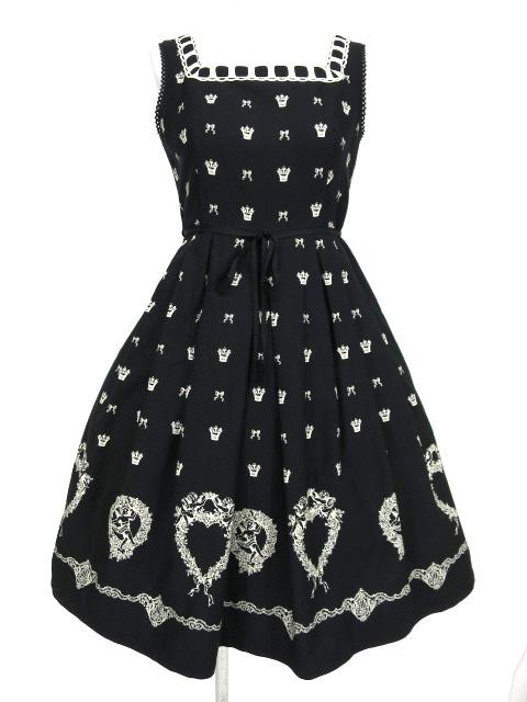 Emily Temple cute 天使リース柄ジャンパースカート