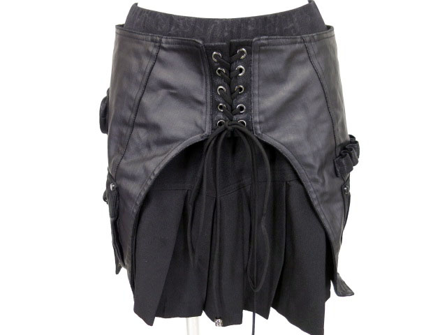 Qutie Frash フラップ付きプリーツスカート