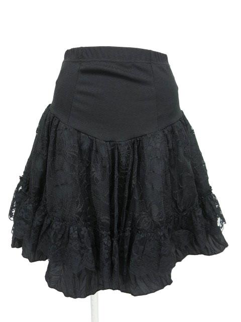 Qutie Frash 蜘蛛の巣レース付きスカート