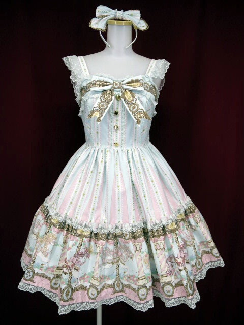 Angelic Pretty Day Dream Carnivalティアードジャンパースカート&カチューシャ