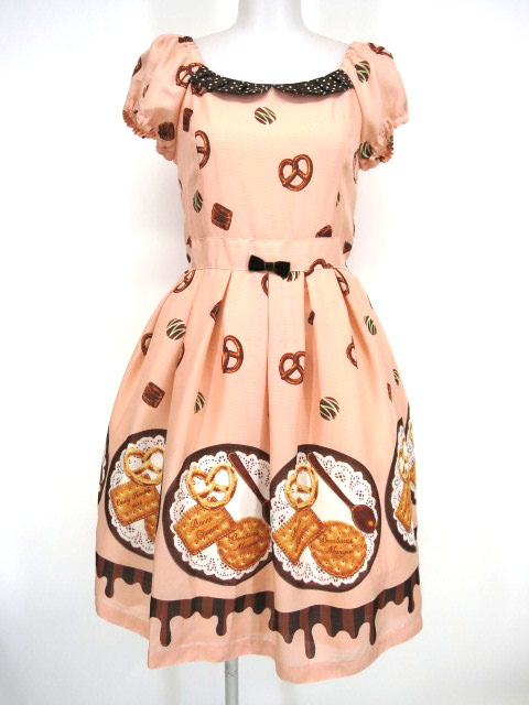 Emily Temple cute ビスケット&チョコプリントワンピース