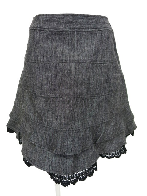 Emily Temple cute 裾レース付きデニムスカート