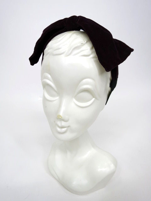 Jane Marple 別珍リボンヘアバンド