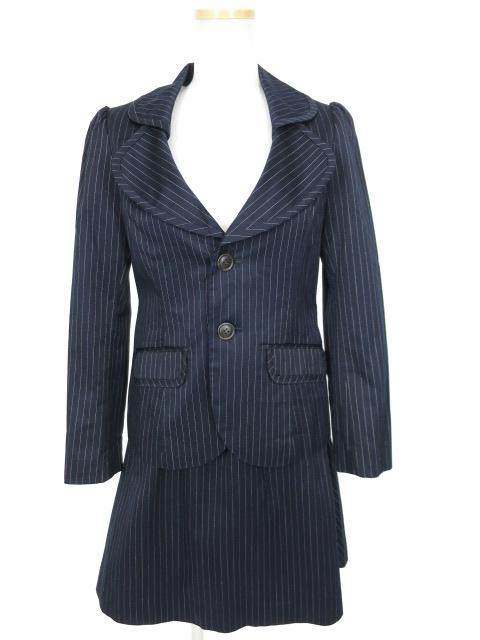 Jane Marple トライプジャケット&スカートセットアップスーツ