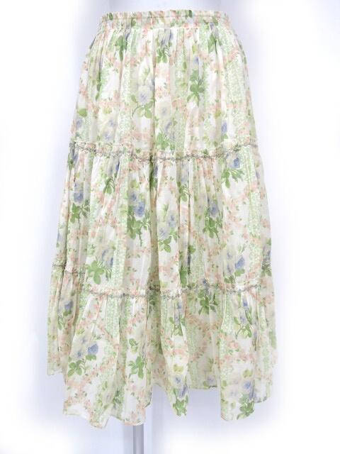 Jane Marple Dans Le Salon ローズ柄ティアードスカート