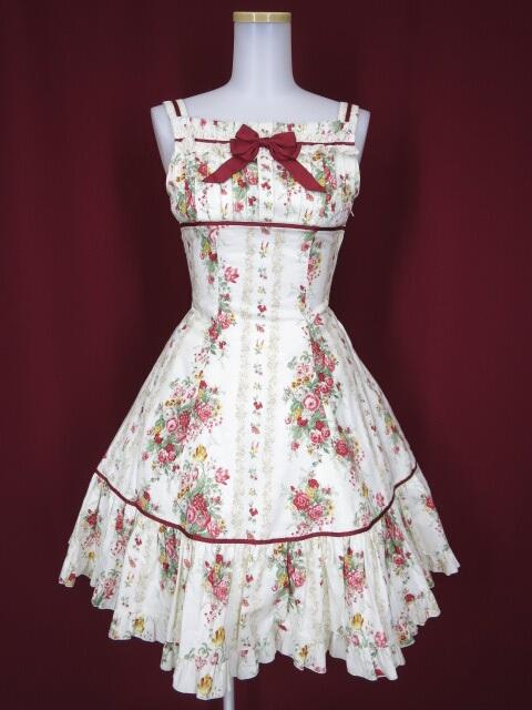 Innocent World バラとチューリップのフレアージャンパースカート