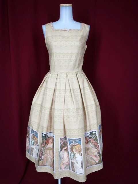 Innocent World ミュシャスクエアージャンパースカート