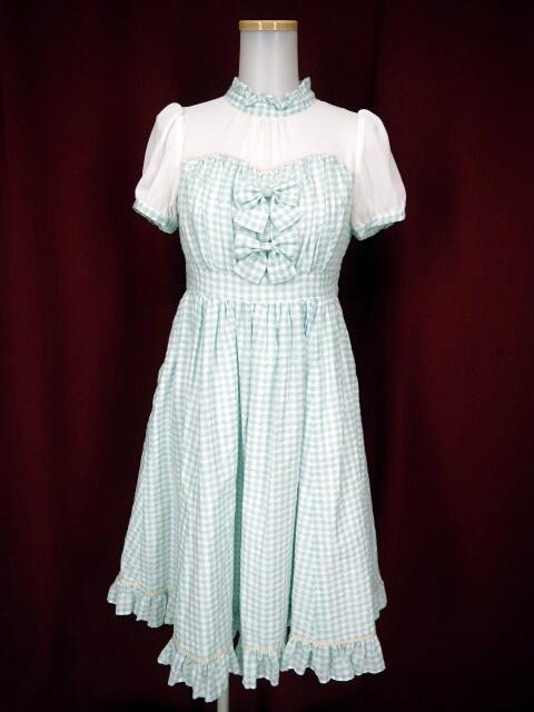 Victorian maiden ギンガムドビーフェアリードレス