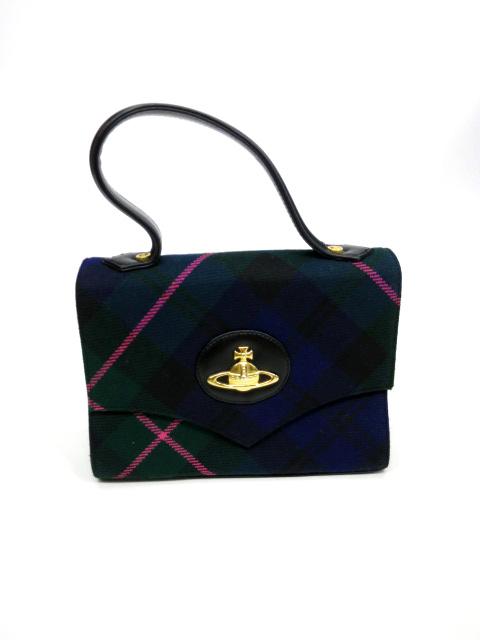 Vivienne Westwood チェックミニハンドバッグ