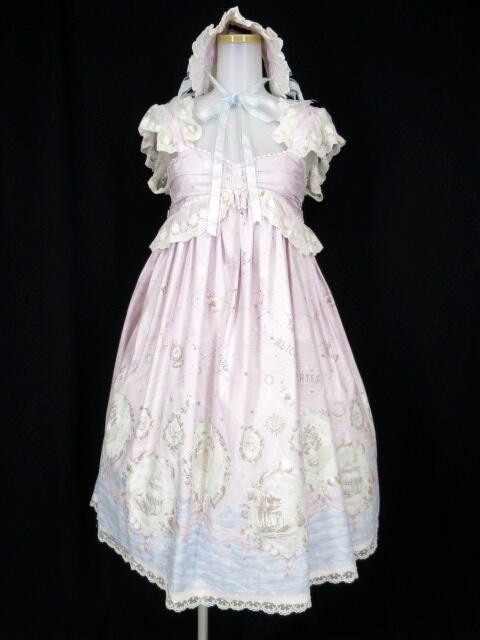 ALICE and the PIRATES 星降る月夜のセイレーン柄ジャンパースカートII&ヘッドドレス