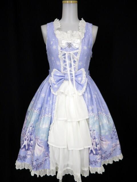 BABY, THE STARS SHINE BRIGHT 雪の女王~妖精が舞い降りる白い国~柄プリンセスジャンパースカート