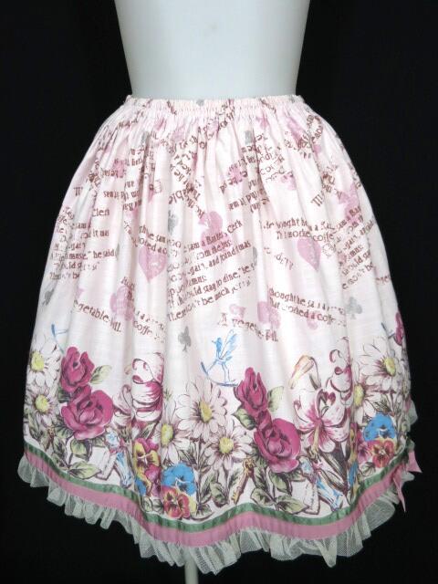 Shirley Temple トランプ&花柄プリントスカート