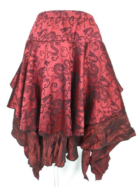 Qutie Frash ドラゴンサテンスカート
