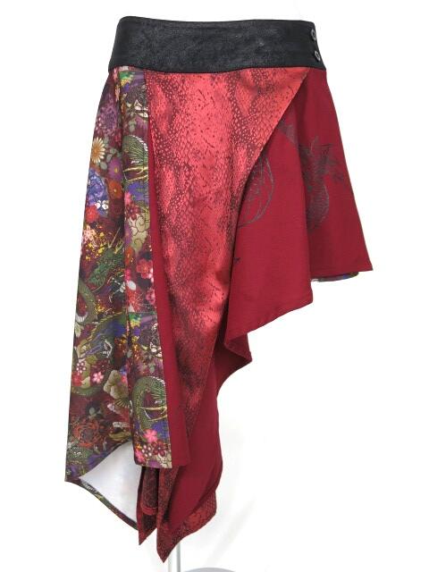 Qutie Frash 和柄アシメ巻きスカート