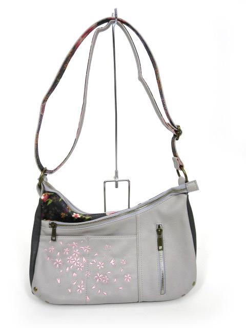 gouk 桜刺繍ショルダーバッグ