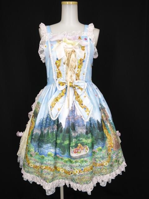 BABY, THE STARS SHINE BRIGHT Princess Rapunzel ~魔法の髪のフローラルガーランド~柄サイドプリンセスジャンパー...
