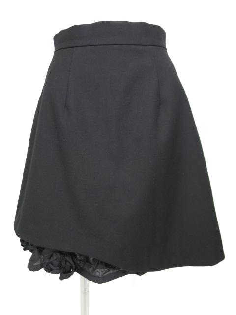 Jane Marple 裏地巻きバラ付きスカート