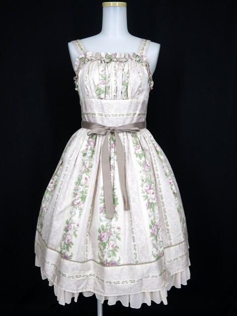 Victorian maiden ストライプローズリボンドレス