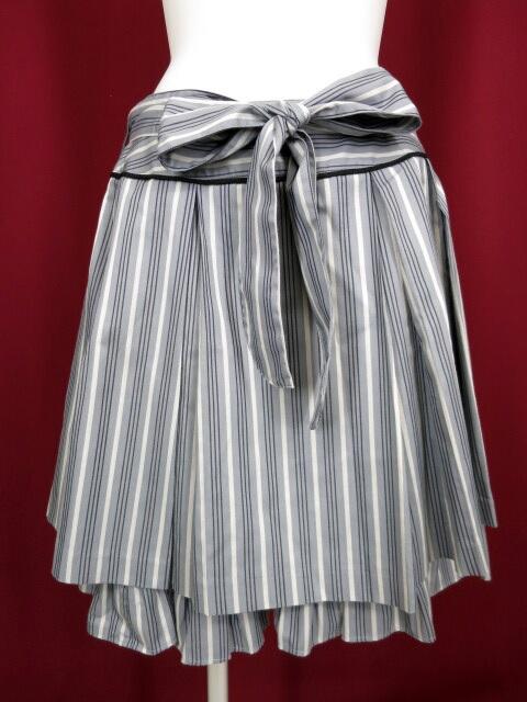 Victorian maiden レジメンタルストライプ プリーツスカート