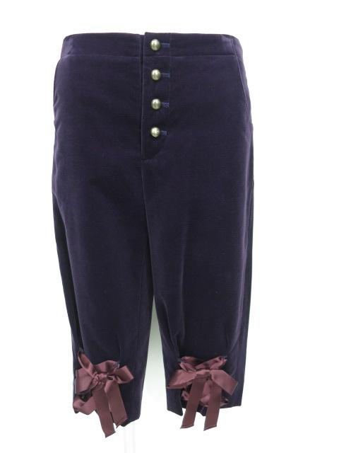 Jane Marple 編み上げリボン付き別珍ハーフパンツ