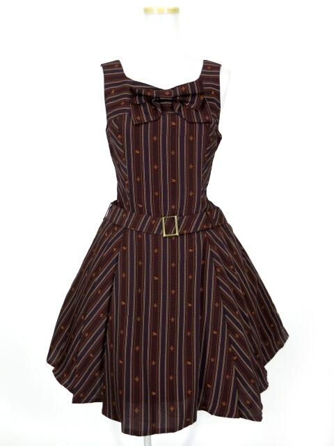 Innocent World ユリ紋章レジメンタルストライプジャンパースカート