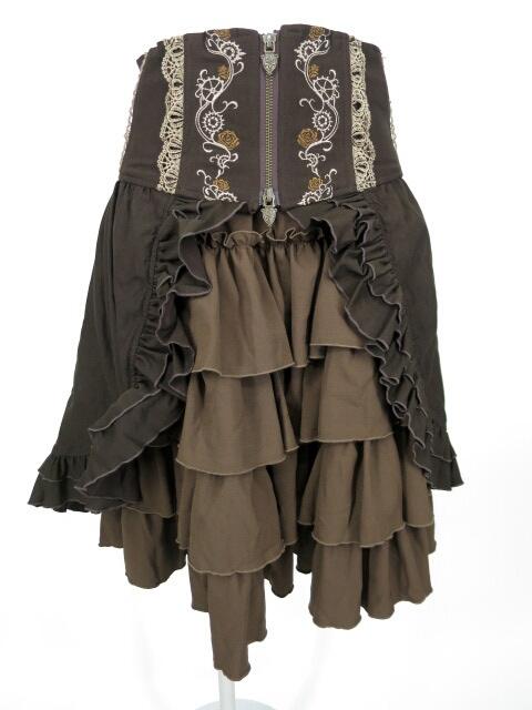 OZZ ONESTE フリルペチコート付きコルセットスカート