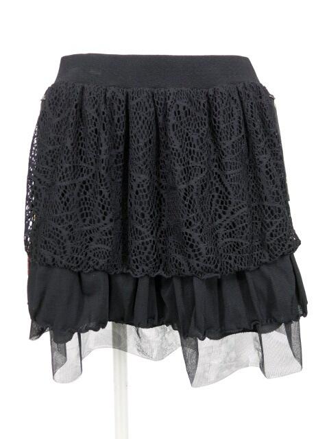 Qutie Frash 和柄ポケット付きメッシュ重ねスカート