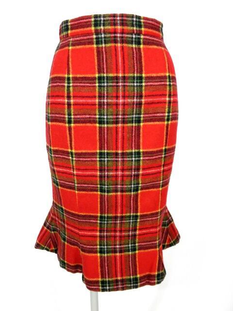Vivienne Westwood タータンチェックマーメイドスカート