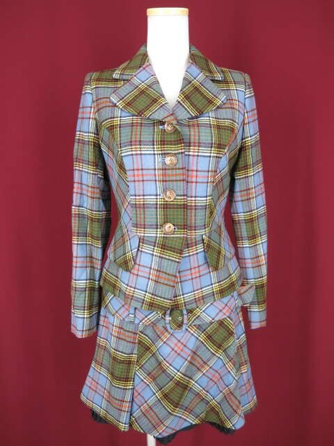 Emily Temple cute タータンチェックジャケット&スカート