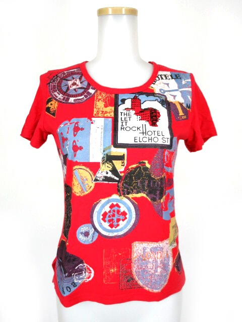 Vivienne Westwood RED LABEL ステッカー柄Tシャツ