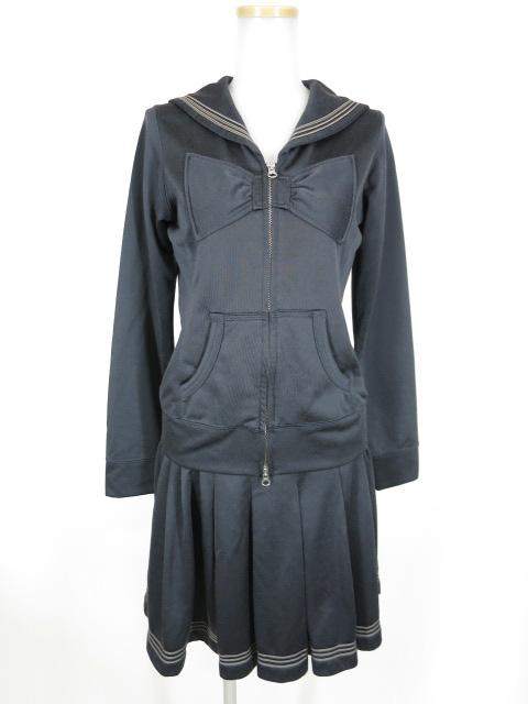 Jane Marple セーラー衿ジャージ トップス&スカート セット