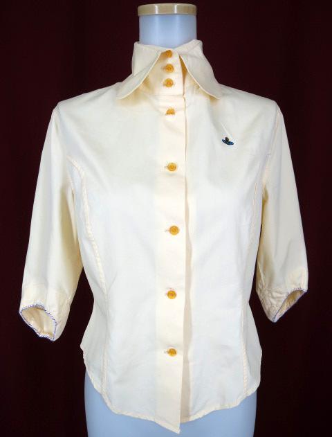 Vivienne Westwood オーブ刺繍七分袖ブラウス