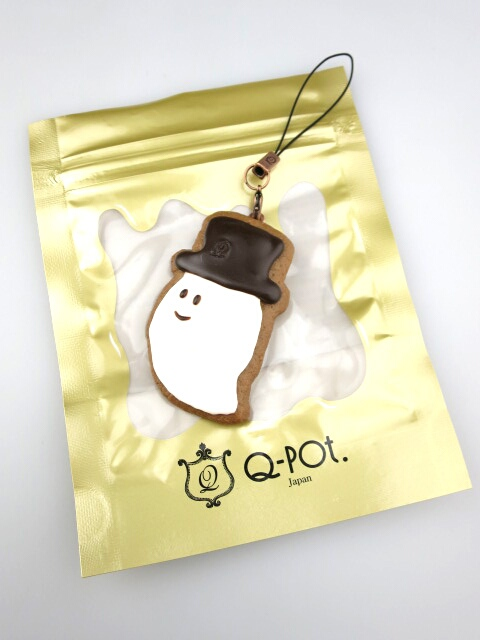 Q-pot. シルクハットゴーストクッキーストラップ