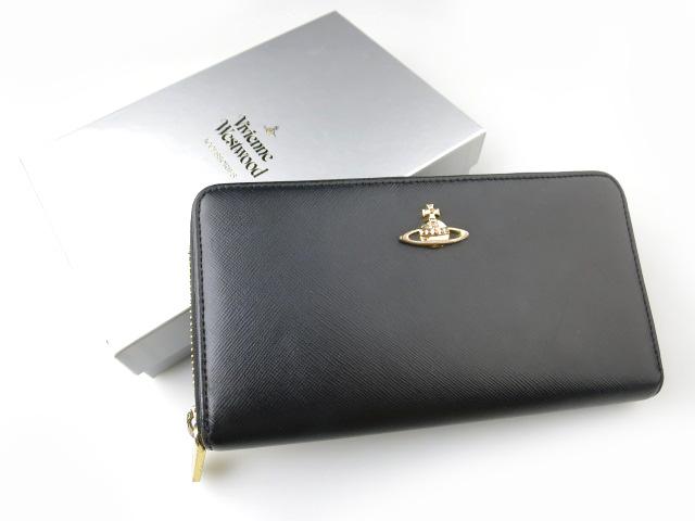 Vivienne Westwood SAFFIANO ラウンドファスナー長財布