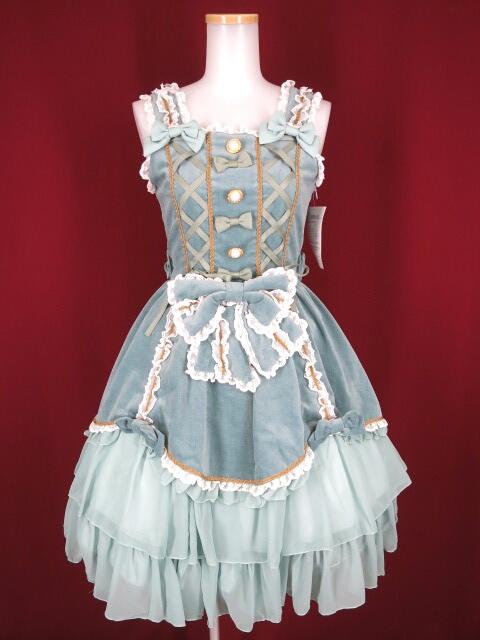 Metamorphose 別珍プリンセスリボンジャンパースカート