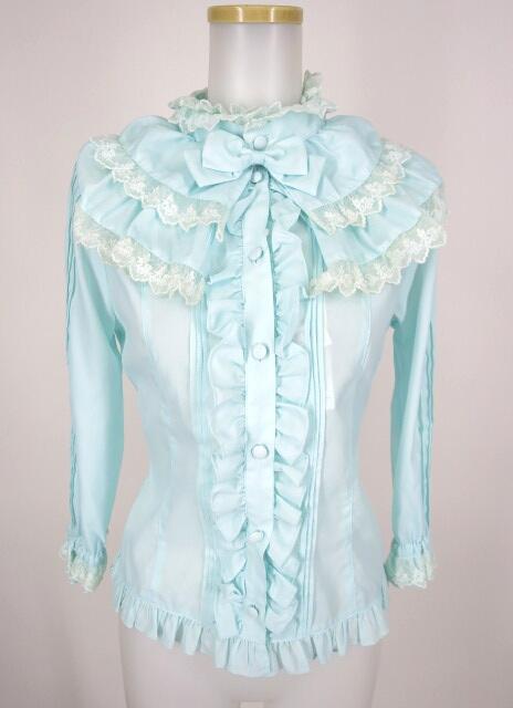 Metamorphose 飾り襟付き七分袖ブラウス