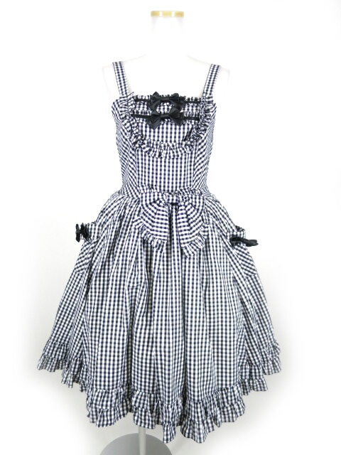 BABY, THE STARS SHINE BRIGHT ギンガムフリルフリルジャンパースカート