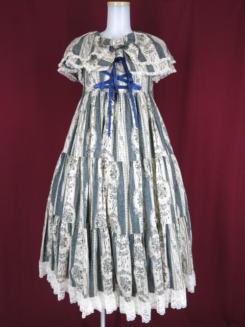 Metamorphose ケープ付きアンティークブーケジャンパースカート&ヘッドドレス