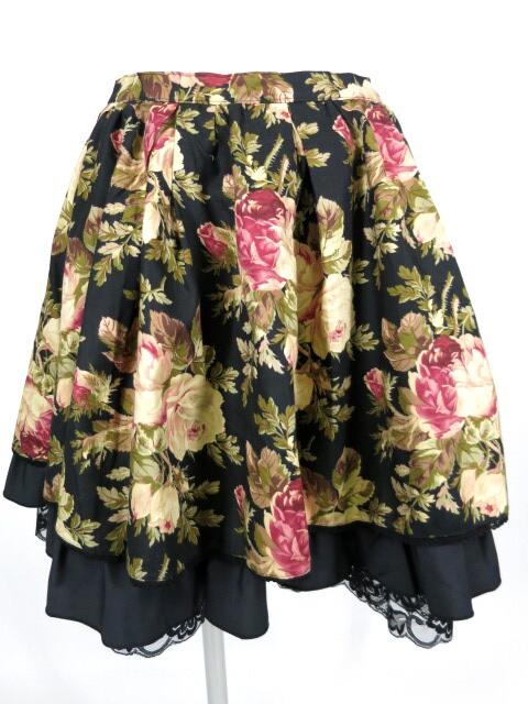 MIHO MATSUDA ローズプリント柄スカート