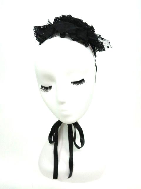 Metamorphose 巻き薔薇リボン付きミニハット型ヘッドドレス