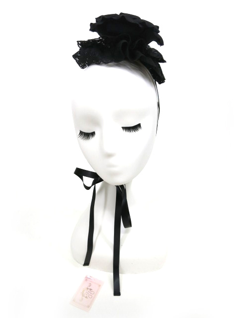 Metamorphose シルクコサージュ付きヘッドドレス