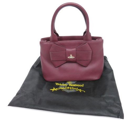 VivienneWestwood ANGLOMANIA BOW ハンドバッグ