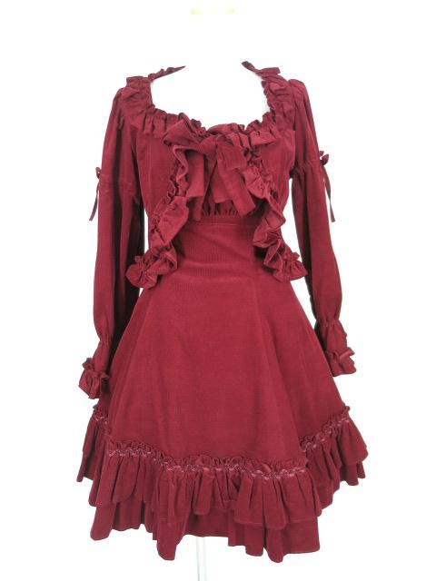 Victorian maiden コーデュロイジャンパースカート&ボレロ