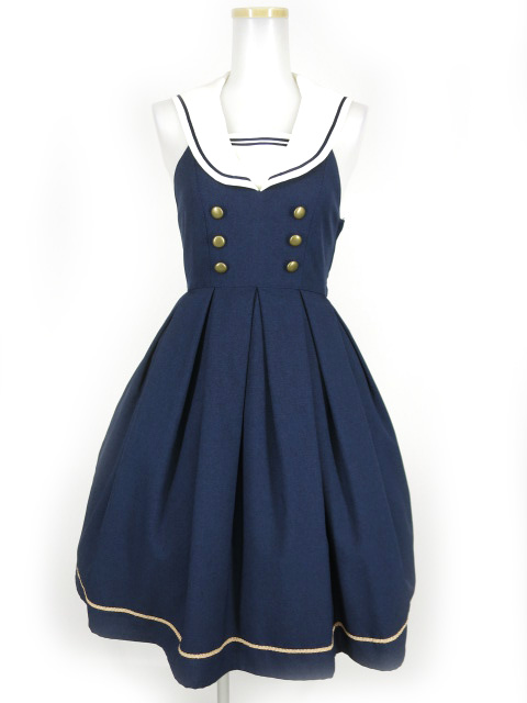 Innocent World 衿バラ刺繍セーラージャンパースカート