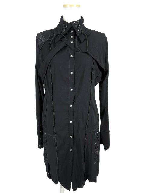 Ozz Croce 衿編み上げ付きシャツワンピース