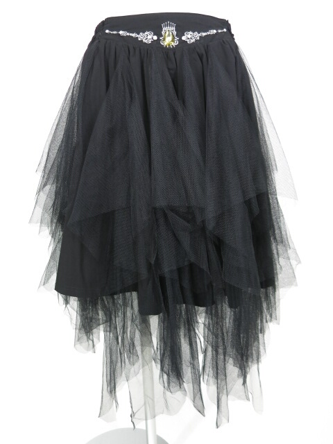 OZZ ANGELO チュール付きスカート