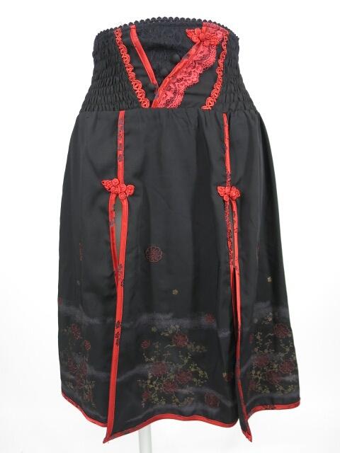 OZZ ONESTE 梅刺繍入りチャイナオーバースカート