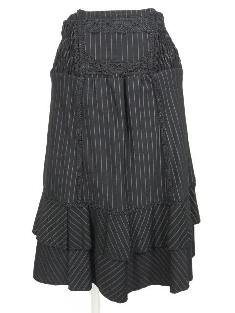 OZZ ONESTE シャーリングストライプスカート